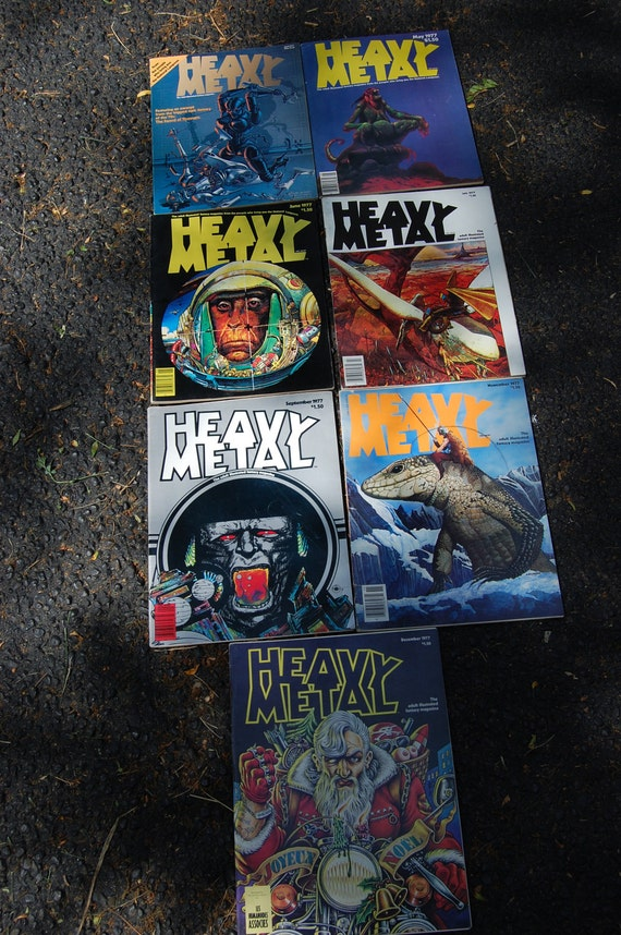 Heavy Metal Magazines from 1977 1978 1979