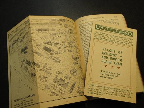 Baedeker's London Handbook for Travelers 1905 Travel Back In Time and visit London of Sherlock Holmes