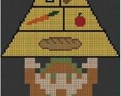 Link Tri-Food Pyramid Cross Stitch Pattern