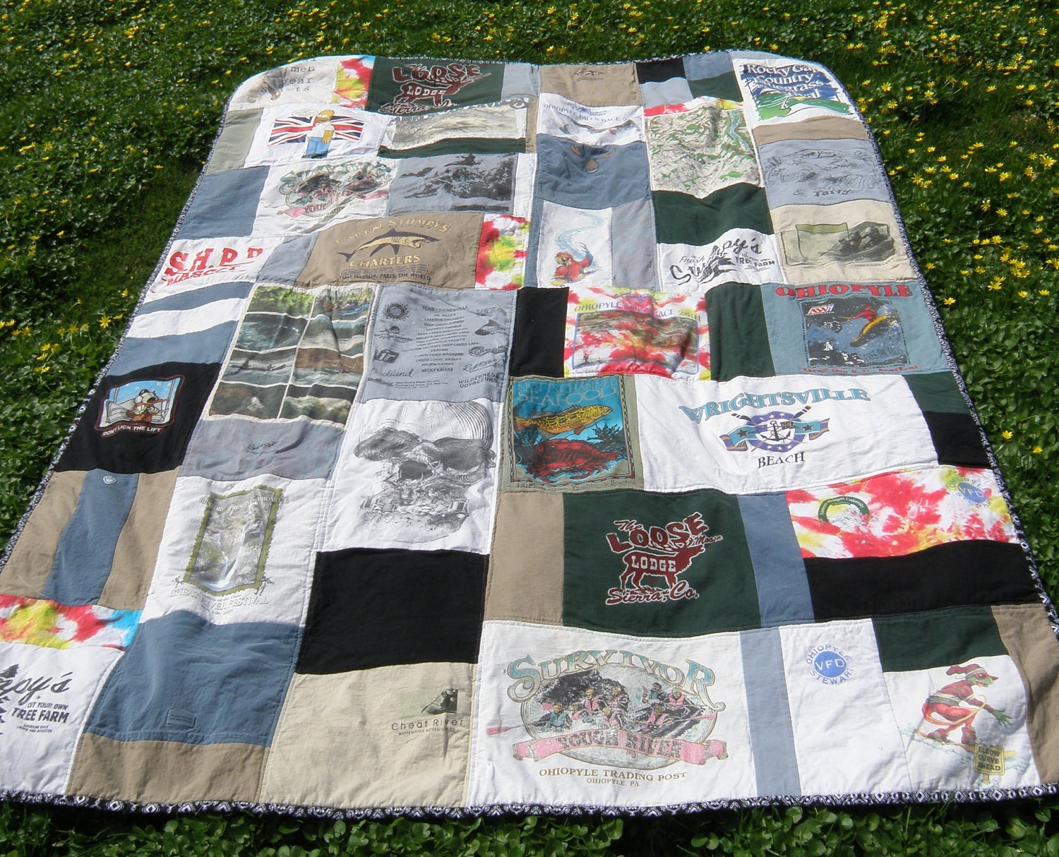 T shirt quilt Twin Size Custom Made by alaliz on Etsy