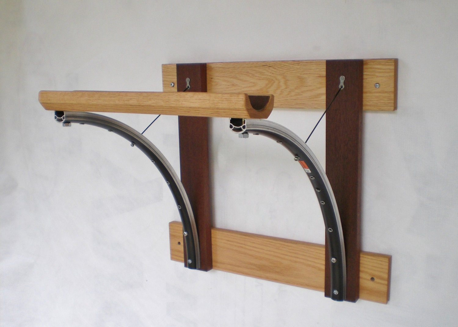 Bicycle Rack Reclaimed Wood And Recycled Bicycle Parts Bicycle