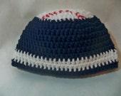 Crocheted baby baseball Beanie Any team any team color