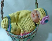 Crocheted Easter Egg baby beanie and cacoon  Photo Prop