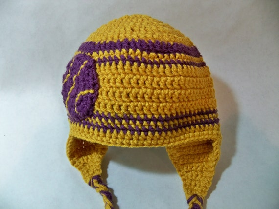 Crocheted baby basketball  beanie LA Lakers or any team any color