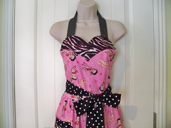 Womens Legends Pink  Betty Boop Apron