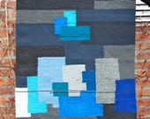 Vintage abstract wall tapestry No.14, Signed by the Artist