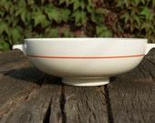 Set of two vintage Société Céramique pottery potato bowl serving dish