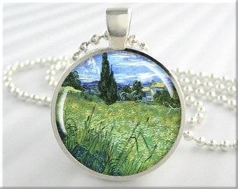 Van Gogh Art Pendant Van Gogh Jewelry Impressionist Resin Necklace Pendant (115RS)