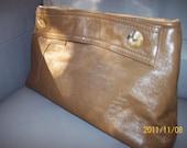SALE Beige Leather Clutch