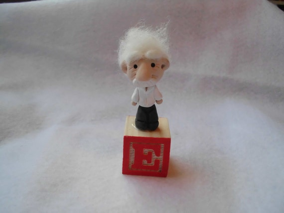 Ooak Albert Einstein Polymer Clay Doll