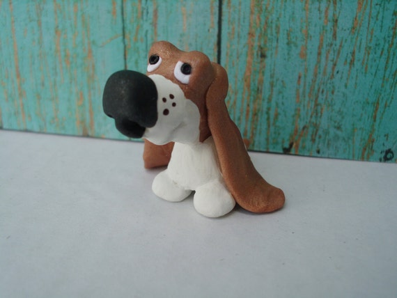Cute Little Pilgrims Cute Little Hound Dog Polymer