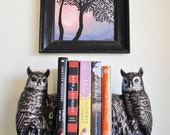 Stunning Vintage Owl Bookends