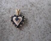 Sapphire Heart Pendent