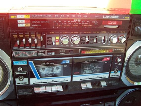 1970s Huge Boombox Cassette Player Lasonic L 30k