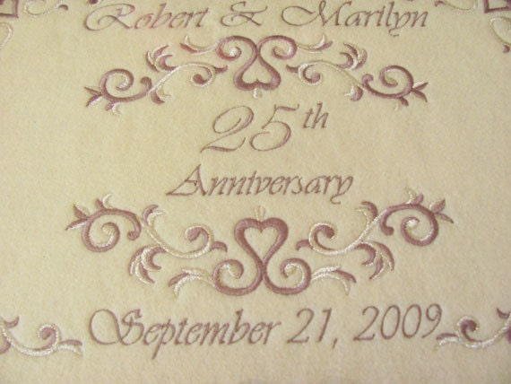 Unique 25th Wedding Anniversary Gifts: 25th Anniversary Gift Personalized Serving Tray Silver