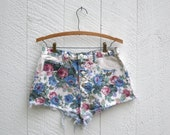 RESERVED FOR WENDY Vintage Floral Denim Booty Shorts