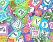 """Digital Alphabet 1.5"""" squares for craft"""