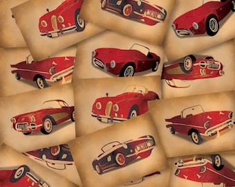 DIGITAL Vintage car gift tags-instant download