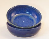 Set of two little bowls 1/2 cup: Cobalt Blue