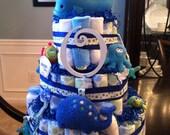 Large Sea Themed Diaper Cake
