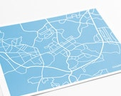 Chapel Hill Print City Map Poster / UNC Tar Heels University Art / 8x10 Digital Print / Personalized colors