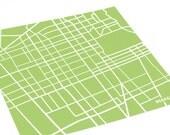 Berkeley City Map Poster / UC Berkeley Illustration University of California Art Print / 8x10 Grad Gift / Personalized colors