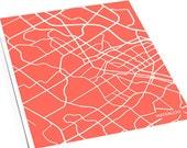 Waterloo City Map Art Print / Ontario Canada Line Map Poster / 8x10 Wall Art