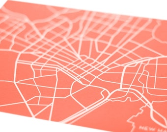 New Haven City Map Wall Art / Yale University Grad Gift Poster / 8x10 Giclee Print / Availabie in any color
