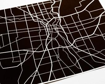 San Antonio Art Print City Map / Texas Map Poster UTSA Grad Gift / 8x10 Dorm Decor / Personalized colors