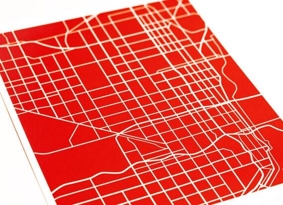 Miami Map Art City Print / Florida Map Poster FIU University Grad Gift Dorm Decor / 8x10 Digital Print / Choose your color