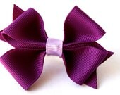 Purple hair bow Purple dog bow