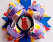 OTT Easter Bow, Over the top Easter Bow, Peep Bow
