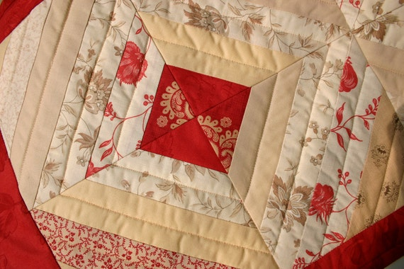 LAST ONE Half Price Discount - Quilted Table Runner, The French Collection Quilted Table Runner