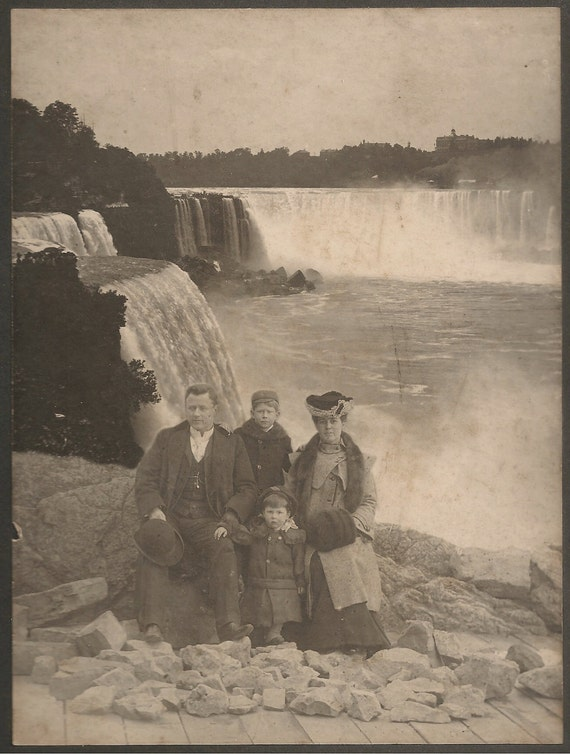 2 Niagara Falls Portrait early Special Effects Large Photographs