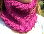 Hot Pink Knitted Cowl