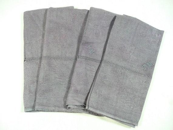 Dyed Vintage Linen Napkins - Set of 4