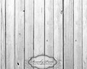 LARGE 5ft x 5ft Vinyl Photography Backdrop / Silver White Wood Floordrop