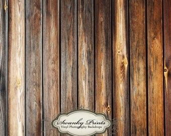 5ft x 5ft Vinyl Photography Backdrop / Two Tone Wood