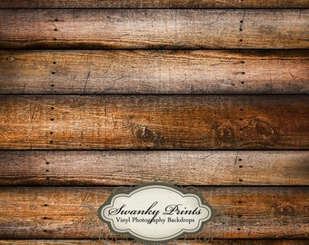 3ft x 3ft Vinyl Photography Backdrop for Newborns, Babies and Children Weathered Tan Brown Wood