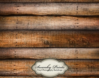 6ft x 7ft Vinyl Photography Backdrop for Newborns, Babies and Children Weathered Tan Brown Wood