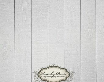 4ft x 4ft  Vinyl Photography Backdrop  / White Gray Wood