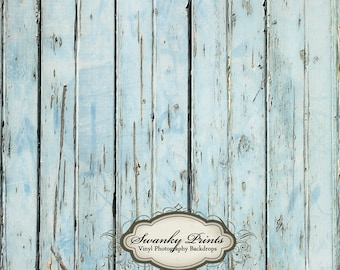 NEW ITEM 2ft x 2ft Vinyl Photography backdrop / Worn Blue Distressed Wood