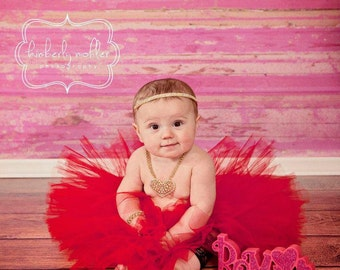 6ft x 6ft Vinyl Photography Backdrop / Pink Weathered Wood / Custom Photo Prop