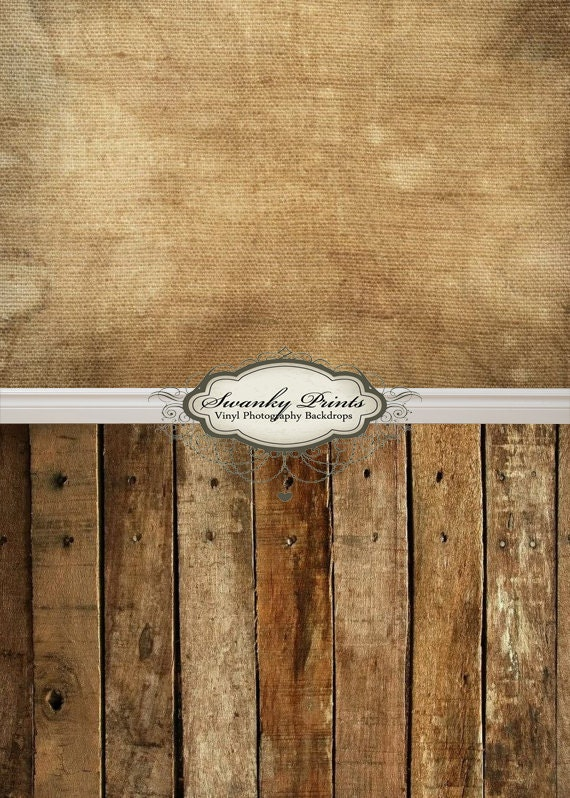 """ALL IN ONE 72"""" x 147"""" Vinyl photography Backdrop  / Baseboard, Grunge Canvas, Western Wood"""