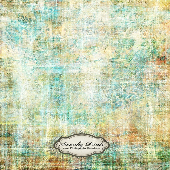 NEW PRICE 3.5 x 3.5 Vinyl Backdrop Colorful Grunge For NEWBORN Pictures or Headshots