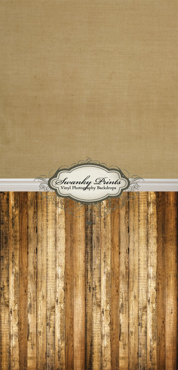 "ALL IN ONE 42"" x 87"" Vinyl photography Backdrop  / Baseboard, Brown Texture and Multi Wood"