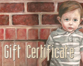 Custom Portrait Oil Painting - Gift Certificate