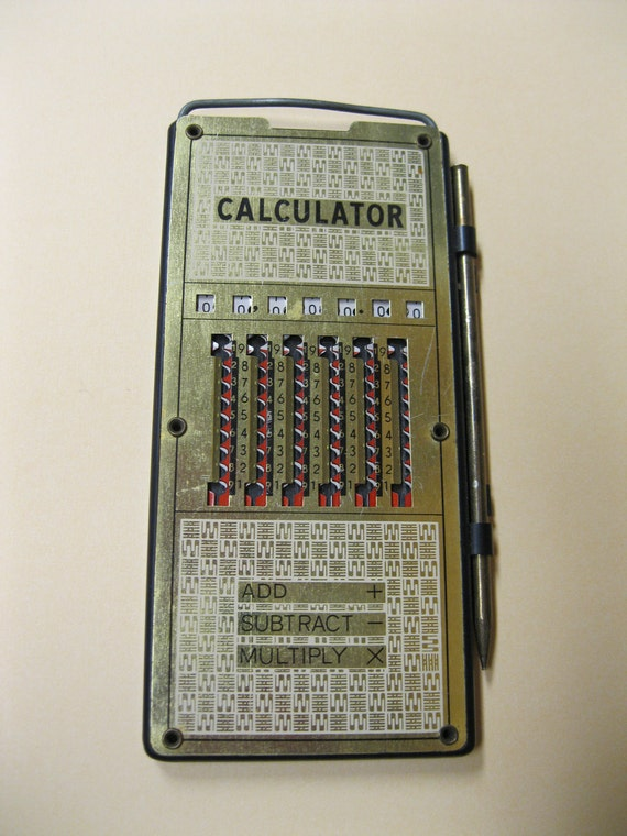 Vintage Magic Brain Calculator with Instructions