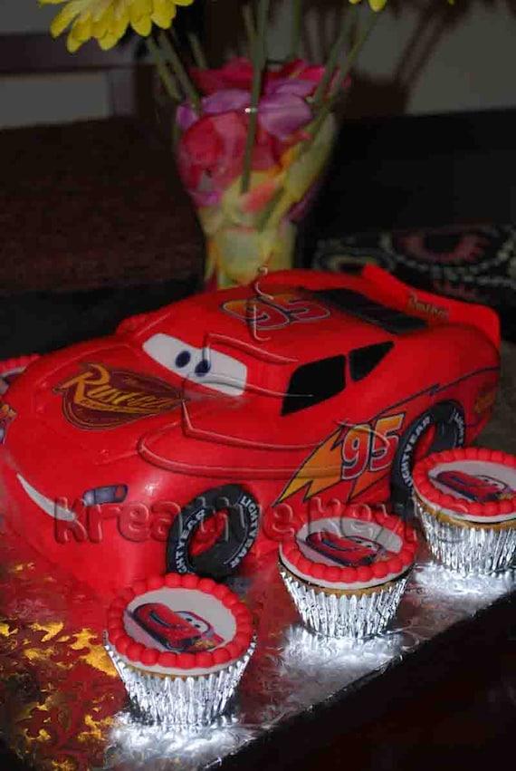 Nascar Cake Pan Edible Decals