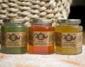 Organic Pure Raw Honey Tea SET of 3, 8 oz Jars.